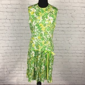 60's Vintage Drop Waist Sleeveless Dress
